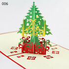 New 3d Pop Up Handmade Christmas Card Holiday Greeting Assorted Card Vintage