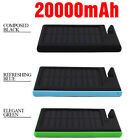 12000mAh Portable Waterproof Solar Charger Dual USB External Battery Power Bank