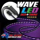Wave LED Light MicroUSB Data Charging Cable Cord for Samsung S5 S6 HTC OnePlus