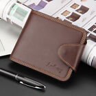 Men's Leather Purse Billfold Button Coin Bag Card Holder Wallet Classic 2 Colors