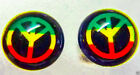 Ohrstecker RASTA REGGAE Boho Hippie PEACE Ganja Leaf 8 mm-4 Designs NEU