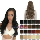 Long wavy loose curl layered 3/4 head wig hairpiece Various colours