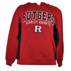 NCAA Rutgers Scarlet Knights Sweater Hoodie Colosseum Mens Winter Football Red