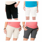 NWT Oh Baby by Motherhood Poplin Bermuda Shorts Maternity S-XL in 4 Colors
