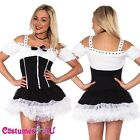 Ladies French Maid Costume Sexy Cleaner Fancy Dress Up Hens Night