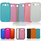 Simple Pure Color Shockproof Leather Case Cover For Samsung Galaxy S3 I9300