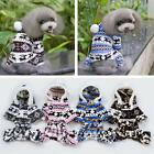 1xWinter Soft Sweater Hoodie Jumpsuit Coat Clothes Outwear For Pet Dog Puppy  Z