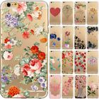 for iPhone 6 / 6S - CUTE FLOWER Ultra Thin Clear Soft TPU Rubber Skin Case Cover