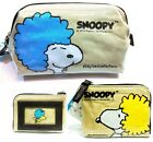 Peanuts Snoopy Pen Pencil Makeup Bag Pouch // Coin Purse w/Credit ID Card Window