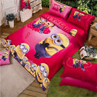 Minions New 100%Cotton Quilt/Duvet/Doona Cover Set Single/Double/Queen Bed Linen