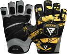 RDX Weight Lifting Gloves Body Building Gloves Gym Training Wrist Wrap Leather
