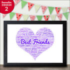 PERSONALISED Best Friend Gifts for Friendship, Sister, Mum - Friend Presents