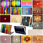 """3D Wood Prints Cut-out Hard Case Cover KB For Macbook Pro Air 11""""13""""15""""Retina 12"""