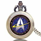 Vintage Steampunk Star Trek STARFLEET Pocket Watch Quartz Necklace Men Xmas Gift on eBay