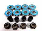 Multiple Color Abec7 (8 PACK) 8mm Axle Nuts Longboard Skateboard Bearings 608