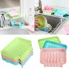 Suction Soap Dishes Sponge Holder Tray Storage Rack Kitchen Bathroom Drain Sink