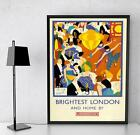 Brightest London & Home By Underground Tourism Poster Print Poster Picture A3 A4