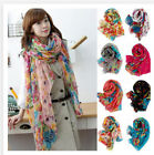 New Women's Long Fashion Soft Cotton Blend Shawl Flower Wraps Scarf Scarves Bg01