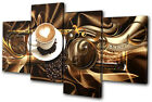 Abstract Modern Coffee MULTI CANVAS WALL ART Picture Print VA