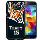 PERSONALIZED RUBBER CASE FOR SAMSUNG S5 S6 S7 S8 EDGE PLUS BASKETBALL PLAYER