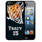 PERSONALIZED RUBBER CASE FOR iPHONE 5S 5C SE 6 6S 7 PLUS BASKETBALL PLAYER