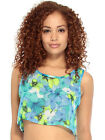 Girl Cute Hippie Crop Top In Floral Print W/ Cutouts Loose, Comfortable Fit