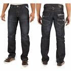 MENS ENZO BY ETO EZ 244 JEANS FASHION JEANS STANDARD REGULAR FIT - DARK BLUE