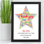 Personalised Teacher Gifts - Thank You Teacher Christmas Gift Word Art Presents