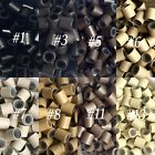 150/250/500/1000 3.4mm 4mm Silicone lined copper tubes for Hair Extensions