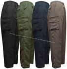 New Mens Elasticated Fleece Lined Thermal Trousers Fishing Hunting M - 3XL