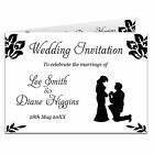 1-100 Double Sided & Folded Day Or Evening Wedding Invitations - Proposing Groom
