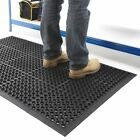 Industrial Large Heavy Duty Rubber Ring Mat Safety Floor Matting Kitchen 90x150