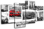 London Grunge City MULTI CANVAS WALL ART Picture Print