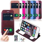 Smart Window View PU Leather Stand Flip Cover Hard Case for iPhone 6 6S Plus #V9