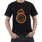 New Star Wars BB8 Droid Black Tshirt Tee Geek