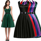 50S Vintage Retro Style Slik Swing Pinup Housewife Party Prom Dresses