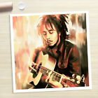 BOB MARLEY photo guitar signed painting CANVAS ART PRINT (Rolled)