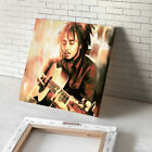 BOB MARLEY photo guitar painting CANVAS ART GICLEE PRINT (Mounted)