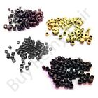 New Screw Micro Ring Loops Beads 4mm for Stick Hair Extensions 4 Color