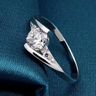 GREAT Women Charm Silver Plated Ring Cubic Zirconia Engagement Wedding Party