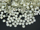 DMC Clear Crystal Rhinestones Round Flatback Non Hotfix ss3~ss40 Nail Art Crafts