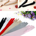 Fashion 1 pair Long Gloves Satin Opera Wedding Bridal Party Prom Sunscreen Glove