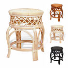 Ginger Handmade Rattan Wicker Stool Ottoman Plant Stand Fully Assembled