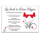 Personalised X-Large  Butterfly Magnet Wedding Invites Fridge Magnets - 12 Cols