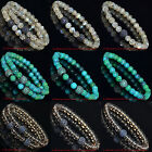 Hot Men's Gemstone Rhodium Plated Zircon Disco Ball Beaded Bracelet