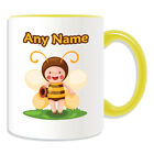 Personalised Gift Elf Bee Mug Money Box Cup Fairy Tale Name Message Honey Coffee