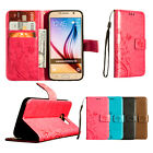 For Samsung Galaxy S6 PU Leather Flip Wallet Stand Case Cover free shipping S