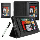 """PU Leather Folio Stand Case Cover for Amazon Kindle Fire 7"""" Tablet (2011 Model)"""