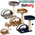 Cat Tree Scratcher Scratch Post Kitten Toy Scratching Activity Centre Sisal Bed