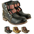 WOMENS FLY LONDON SKA LEATHER BIKER RIDING MILITARY SHOE BOOTS LADIES UK 3-8